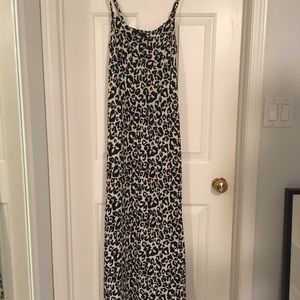 Cotton Leopard Maxi Dress